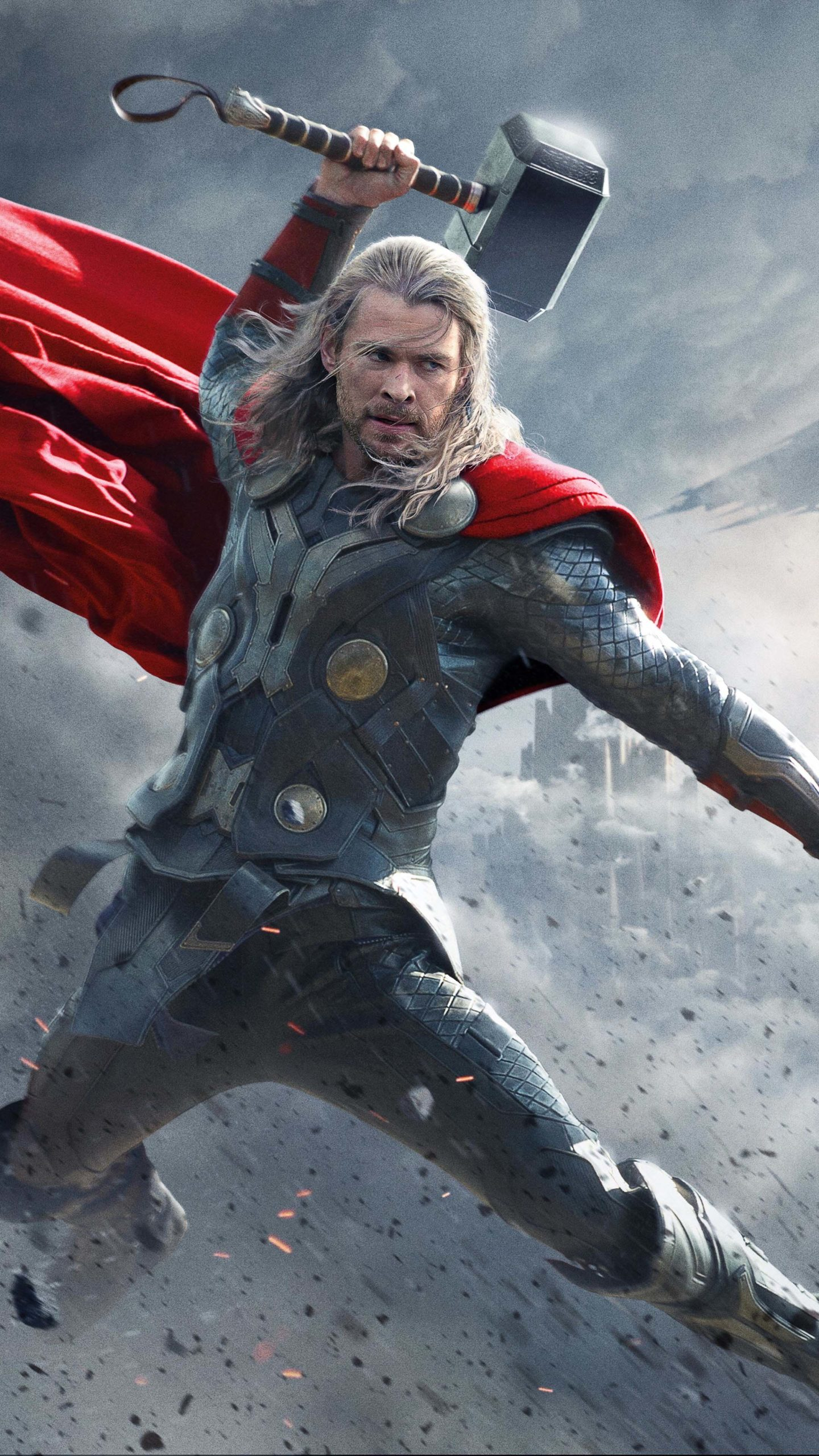 Thor Superhero Chris Hemsworth 4K Ultra HD Mobile Wallpaper