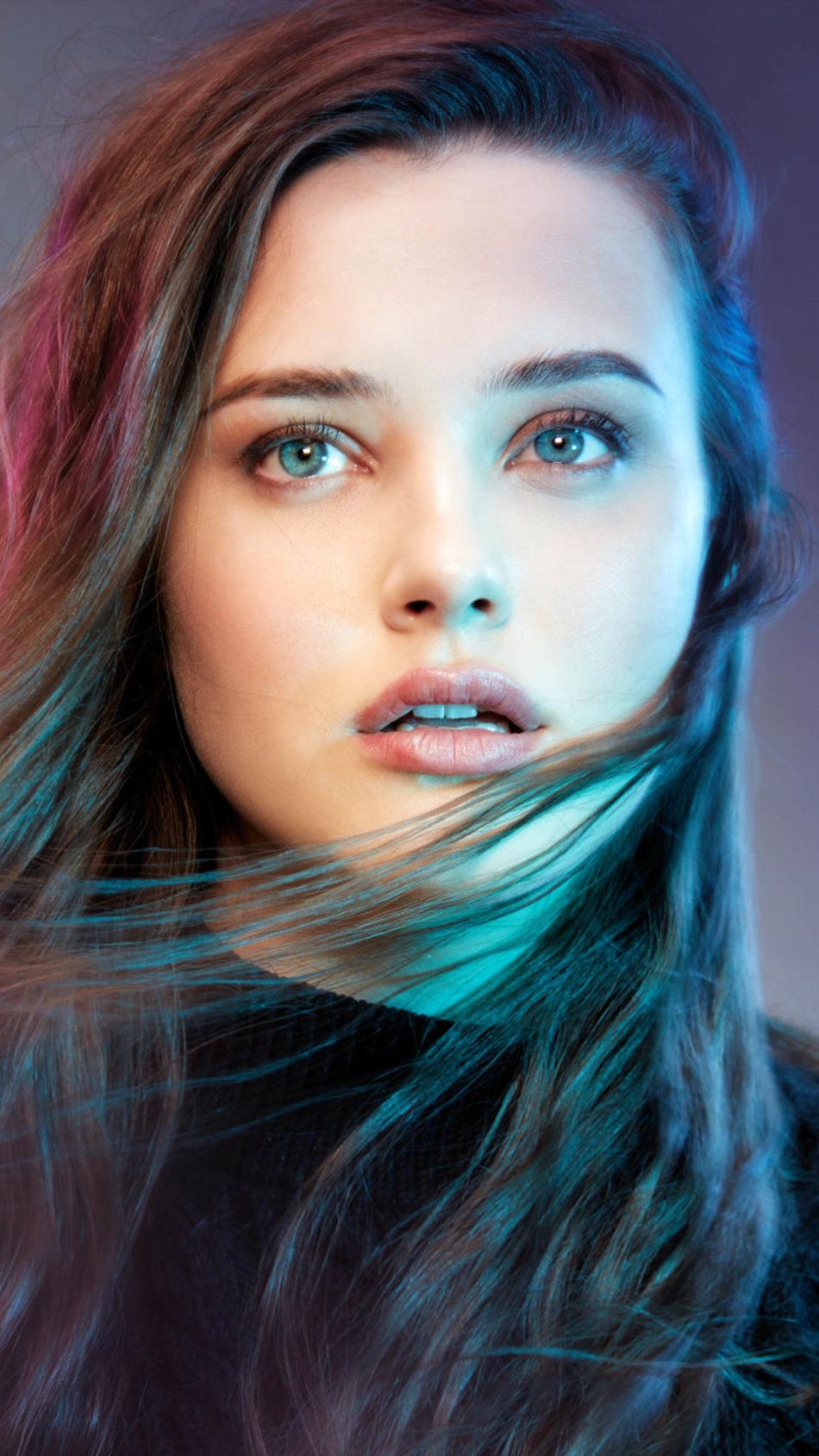 Katherine Langford Neon Lights 4K Ultra HD Mobile Wallpaper