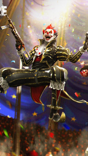 Night Clown Garena Free Fire 4K Ultra HD Mobile Wallpaper