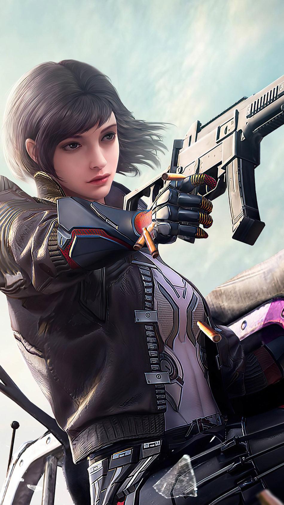 Cyberpunk Neon Girl 4k, HD Games, 4k Wallpapers, Images