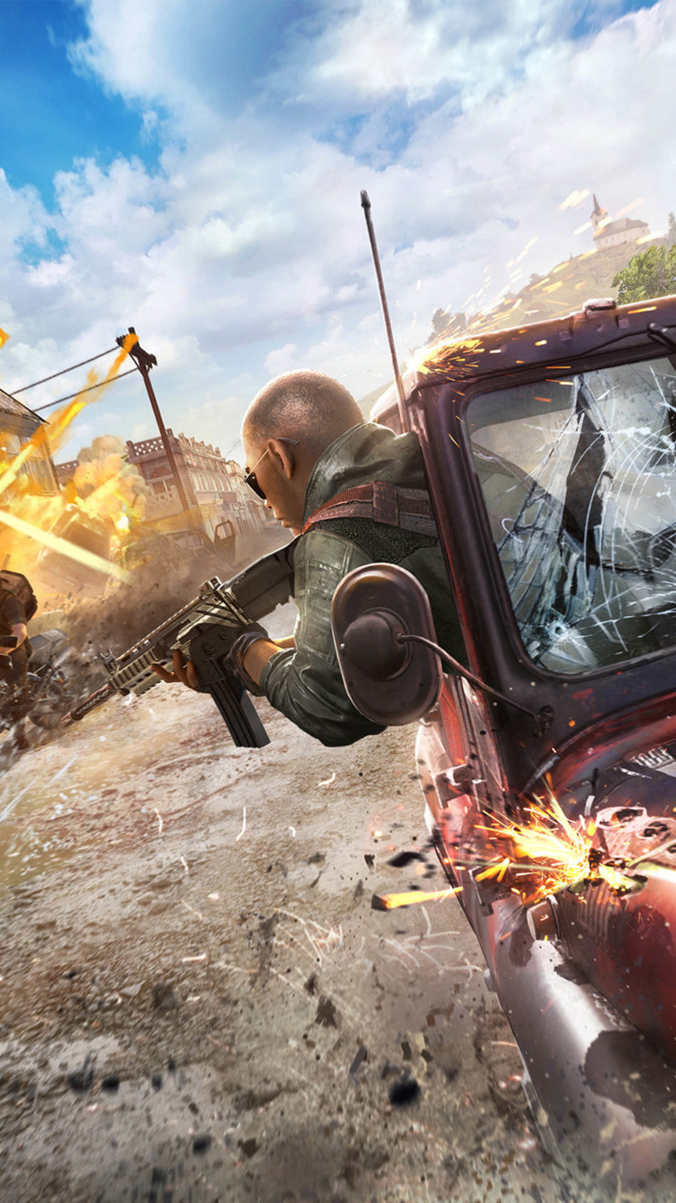 PUBG Season 8 Battle Car Explosions 4K Ultra HD Mobile Wallpaper
