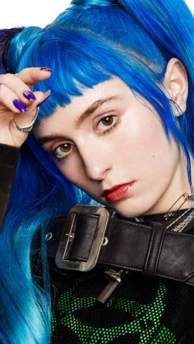 Singer Ashnikko Blue Hair 4K Ultra HD Mobile Wallpaper
