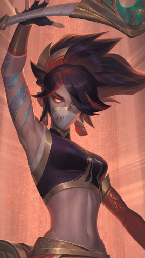 Akali League of Legends 2020 4K Ultra HD Mobile Wallpaper