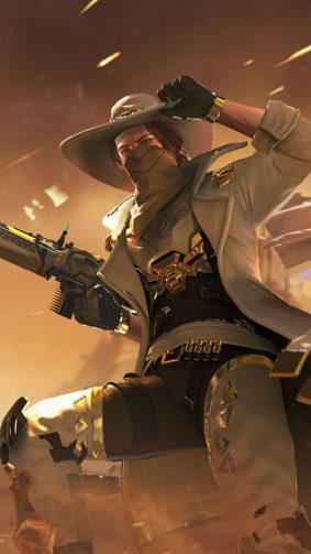Cowboy Garena Free Fire 4K Ultra HD Mobile Wallpaper