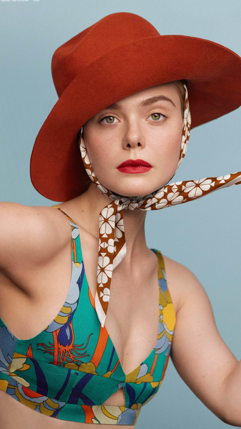 Elle Fanning Photoshoot Red Hat 4K Ultra HD Mobile Wallpaper