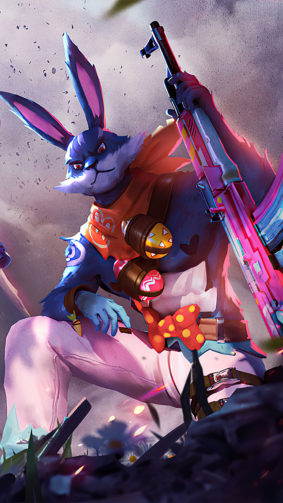 Bunny Easter Garena Free Fire 4K Ultra HD Mobile Wallpaper
