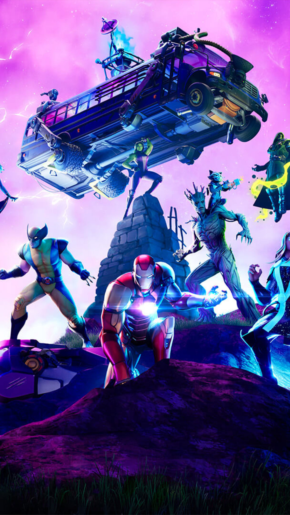 Fortnite Marvel Standoff 4K Ultra HD Mobile Wallpaper