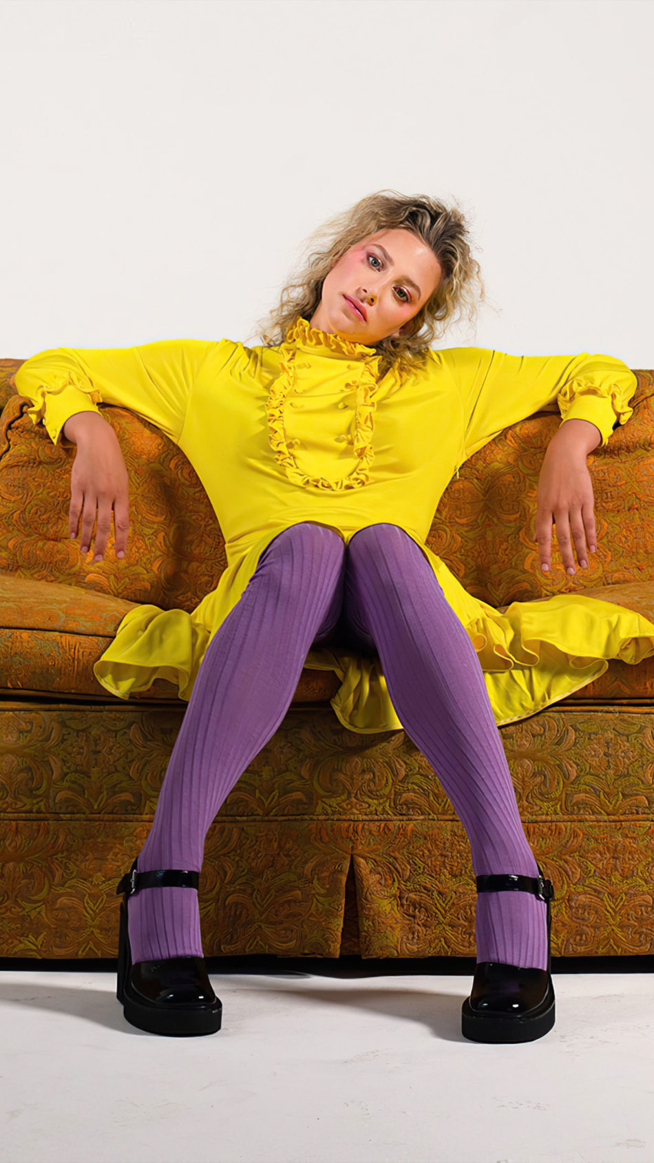 Lili Reinhart 2020 In Yellow Dress 4K Ultra HD Mobile Wallpaper