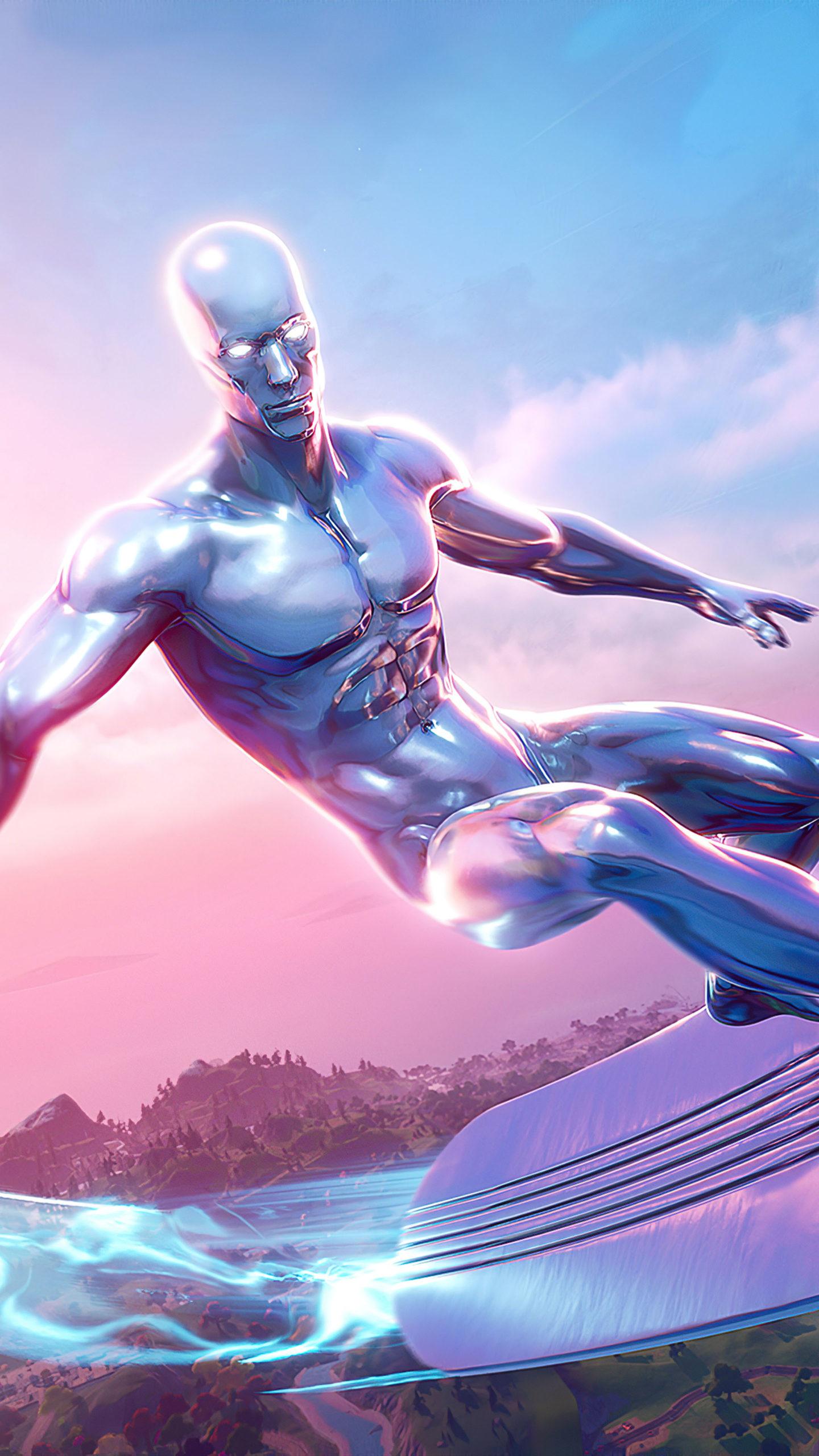 Silver Surfer Fortnite 4K Ultra HD Mobile Wallpaper