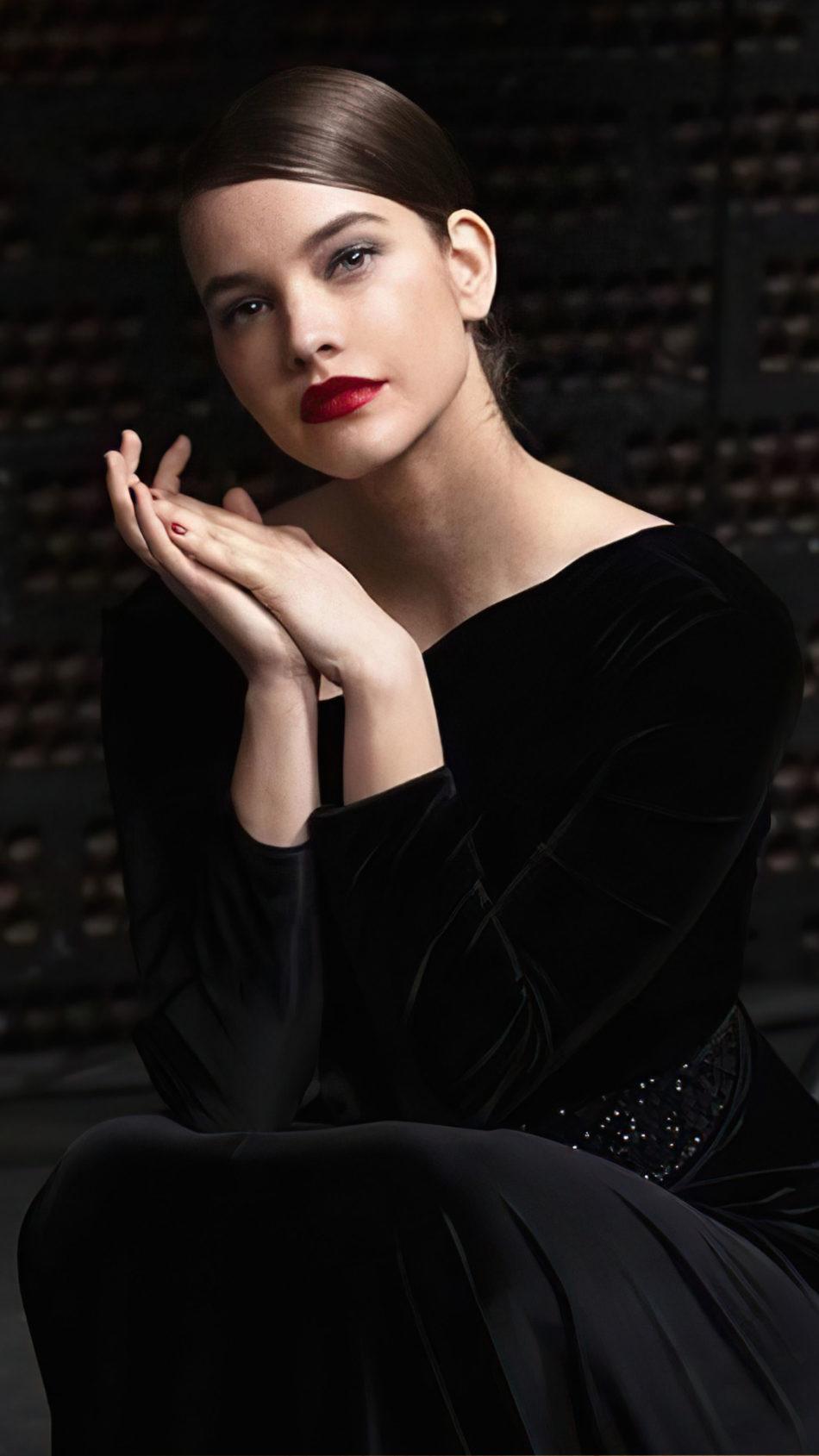 Barbara Palvin 2020 Red Lips Black Dress 4K Ultra HD Mobile Wallpaper