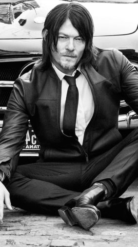 Norman Reedus 2020 Monochrome 4K Ultra HD Mobile Wallpaper