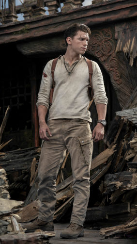 Tom Holland As Nathan Drake In Uncharted 2021 4K Ultra HD Mobile Wallpaper