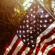 American (USA) Flag Sunray 4K Ultra HD Mobile Wallpaper