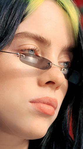 Billie Eilish Closeup Green Hair 4K Ultra HD Mobile Wallpaper