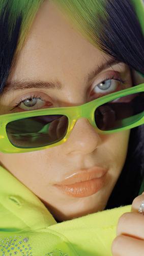 Billie Eilish Hoodie Green Sunglasses 4K Ultra HD Mobile Wallpaper