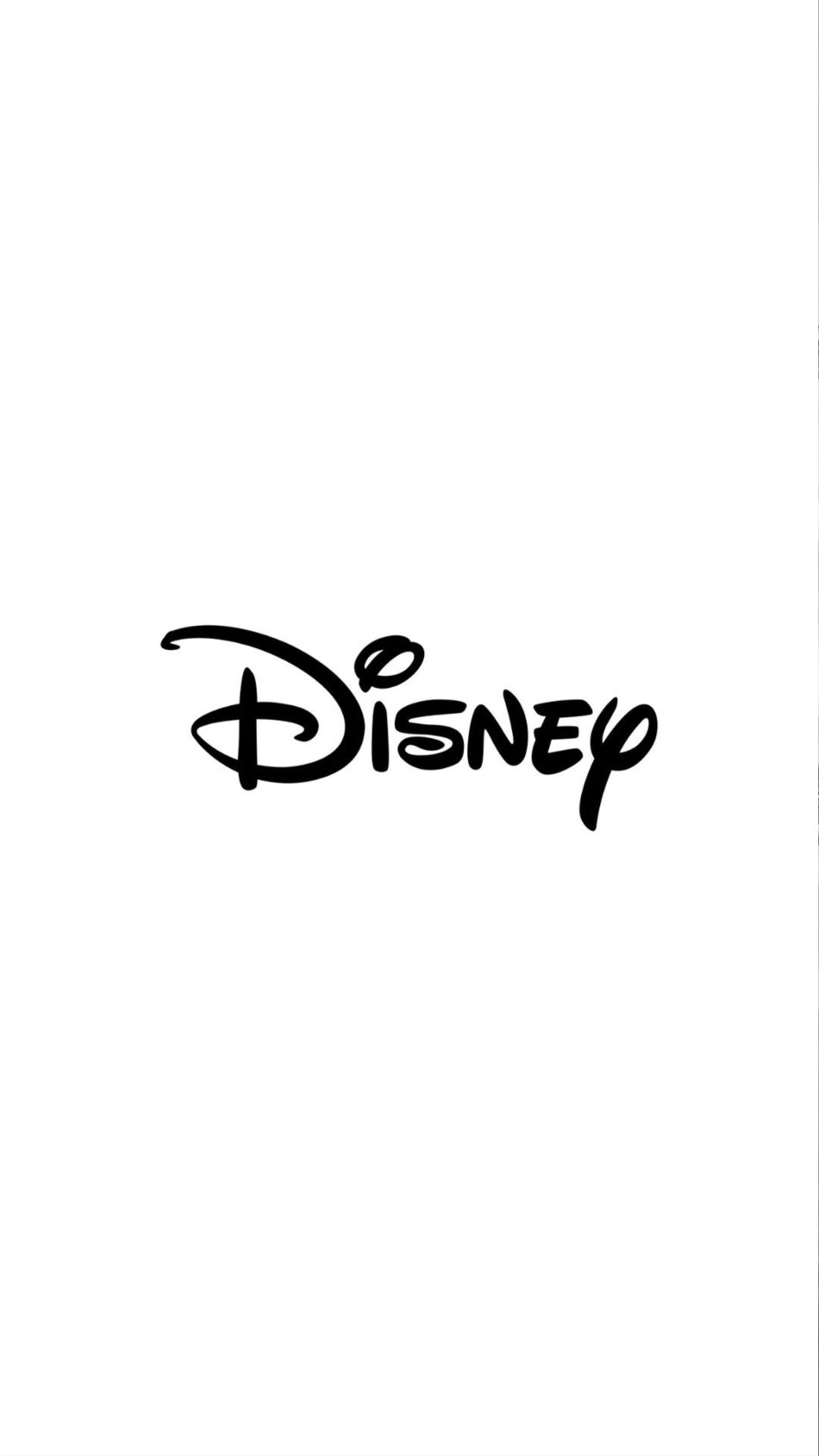 Disney Logo White Background 4K Ultra HD Mobile Wallpaper