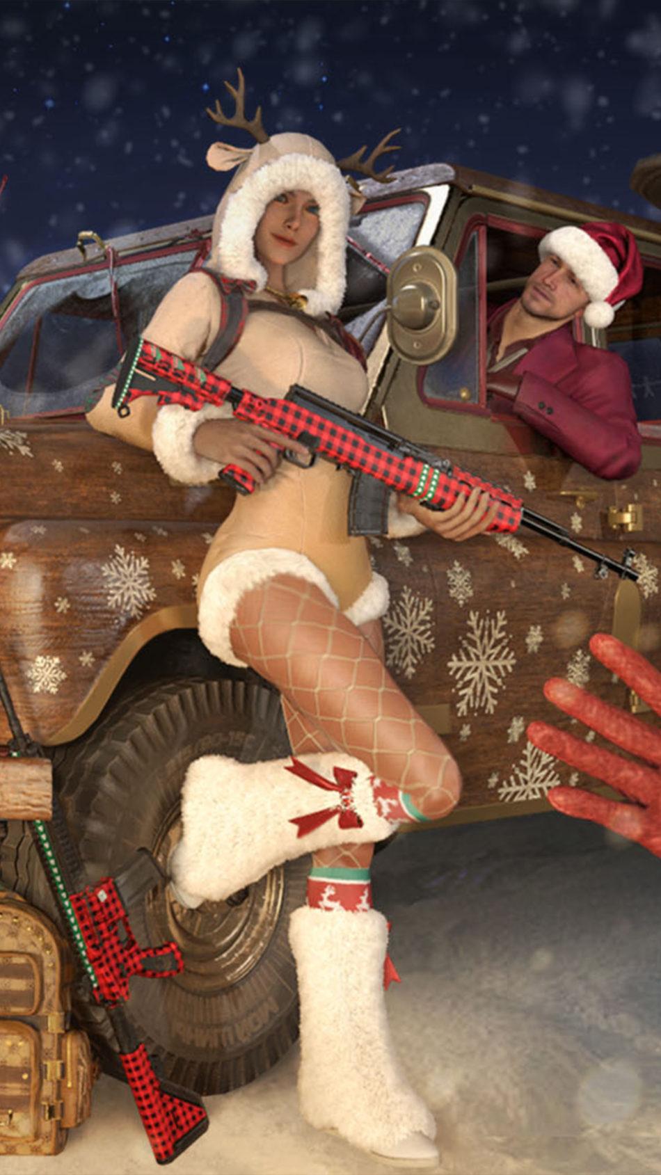 Christmas Skins Playerunknown's Battlegrounds Season 10 4K Ultra HD Mobile Wallpaper