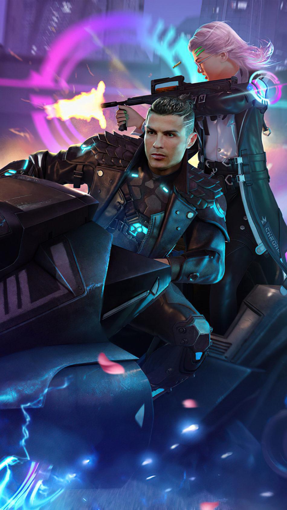 Cristiano Ronaldo Garena Free Fire Skin 4K Ultra HD Mobile Wallpaper