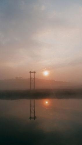Sunrise Morning Landscape Fogs 4K Ultra HD Mobile Wallpaper