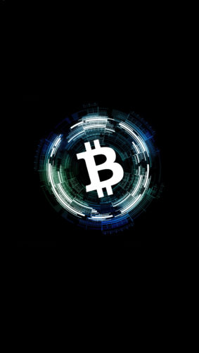 Bitcoin Cryptocurrency Dark Background 4K Ultra HD Mobile Wallpaper