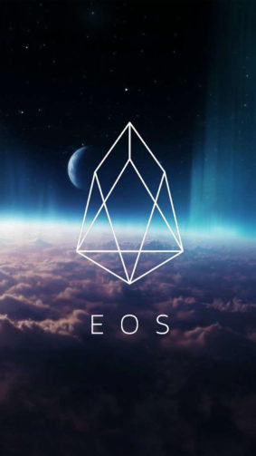 EOS Cryptocurrency Logo 4K Ultra HD Mobile Wallpaper