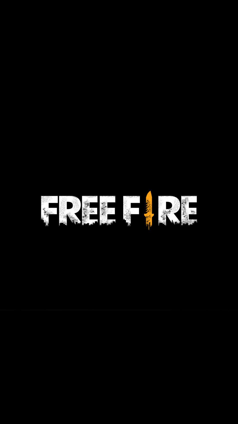 Free Fire Logo Dark Background 4K Ultra HD Mobile Wallpaper