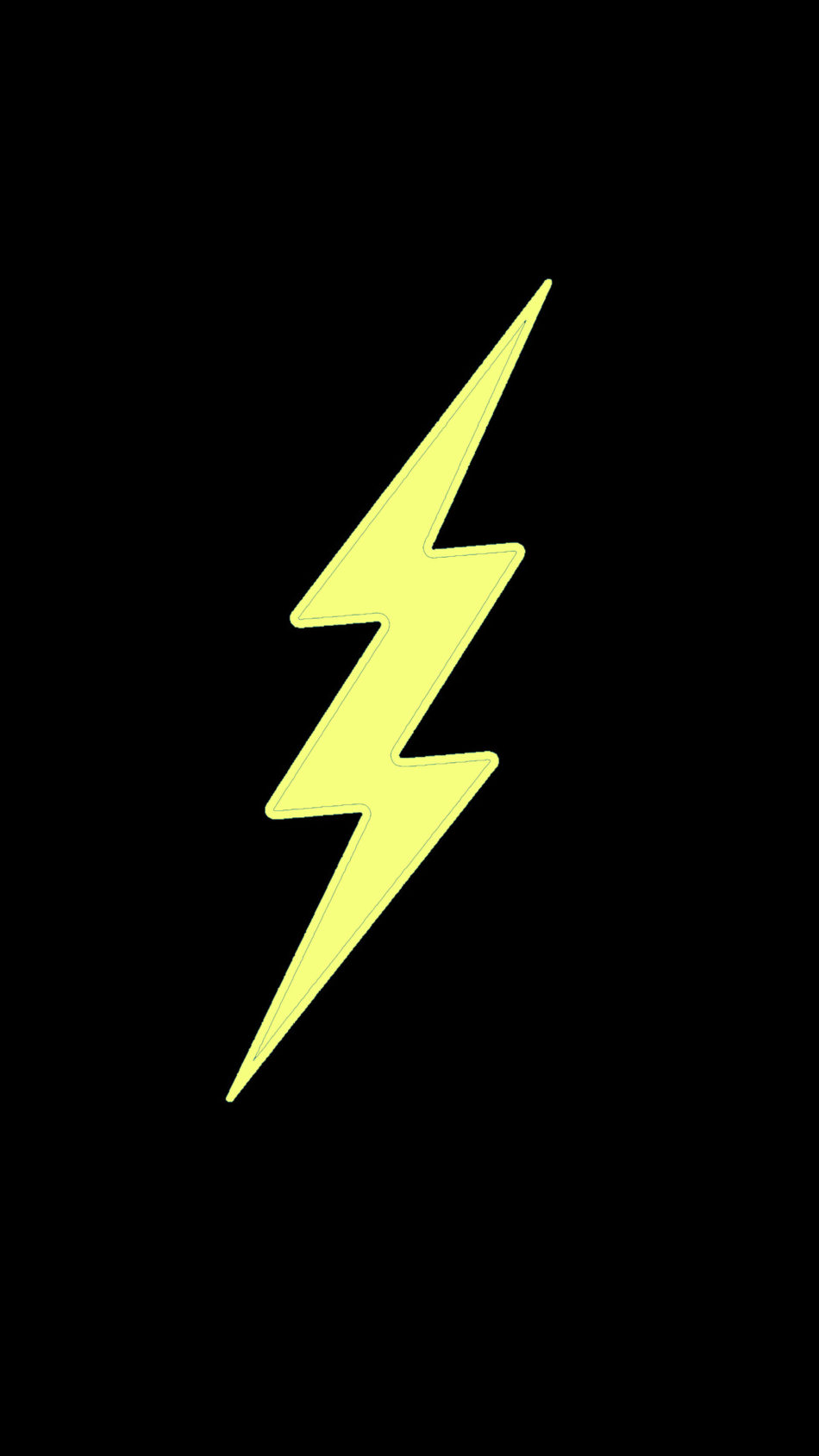 Yellow Flash Dark Background 4K Ultra HD Mobile Wallpaper