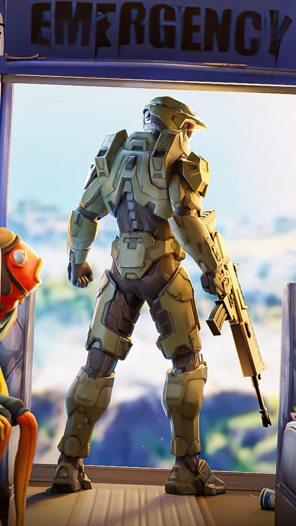 Halo Chief In Fortnite 4K Ultra HD Mobile Wallpaper