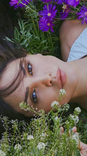 Eiza Gonzalez on Flowers 4K Ultra HD Mobile Wallpaper