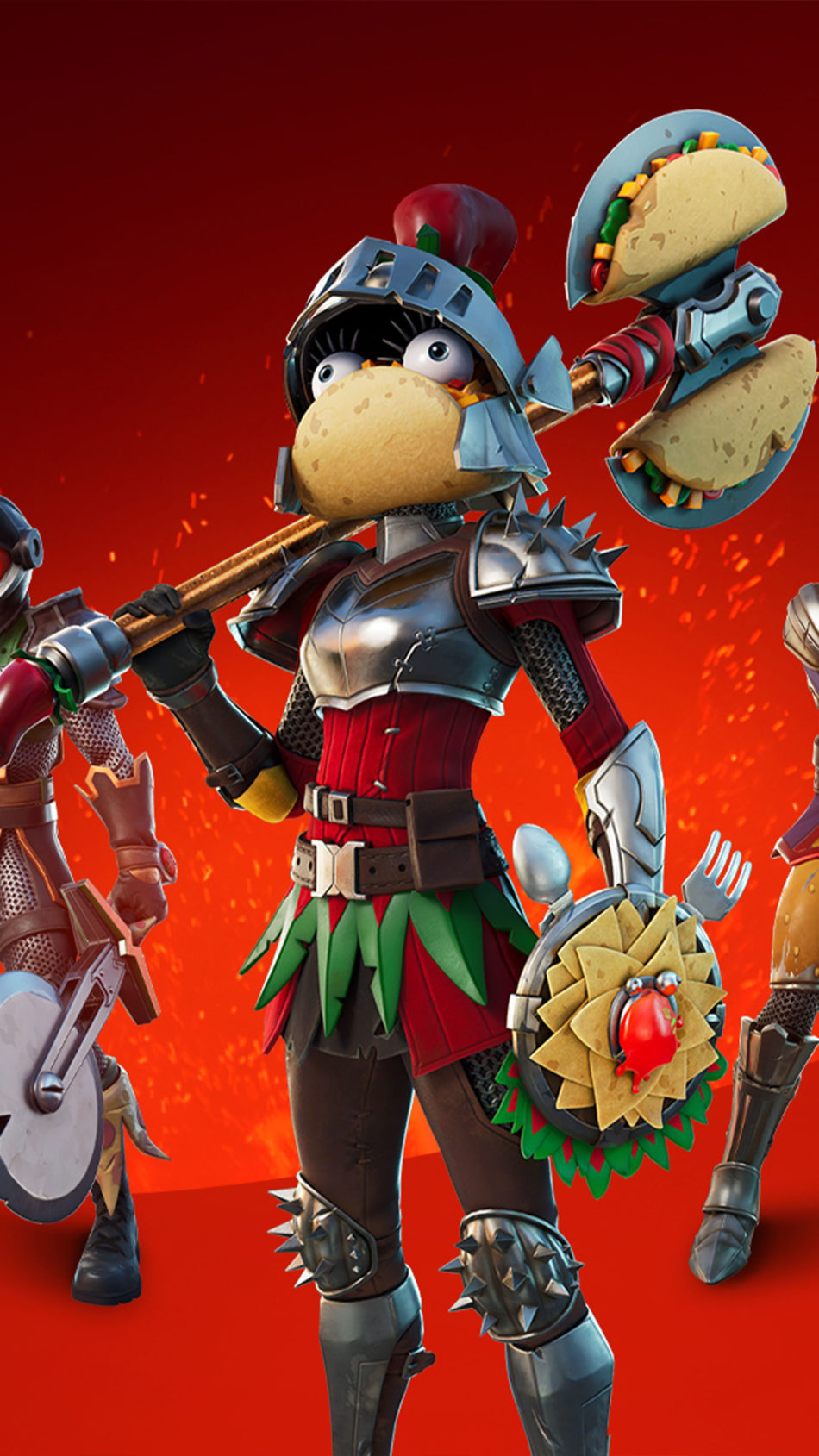 Knights of The Food Court Fortnite 4K Ultra HD Mobile Wallpaper