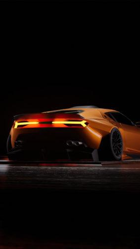 Lamborghini Asterion Yellow Dark Background 4K Ultra HD Mobile Wallpaper