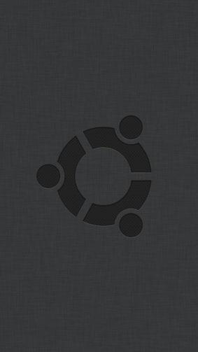 Ubuntu Logo Black 4K Ultra HD Mobile Wallpaper
