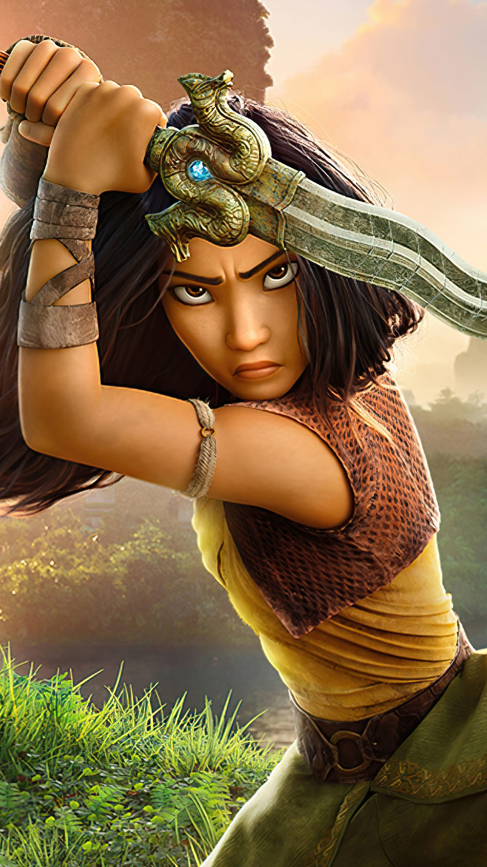 Raya With Sword In Raya and The Last Dragon 4K Ultra HD Mobile Wallpaper