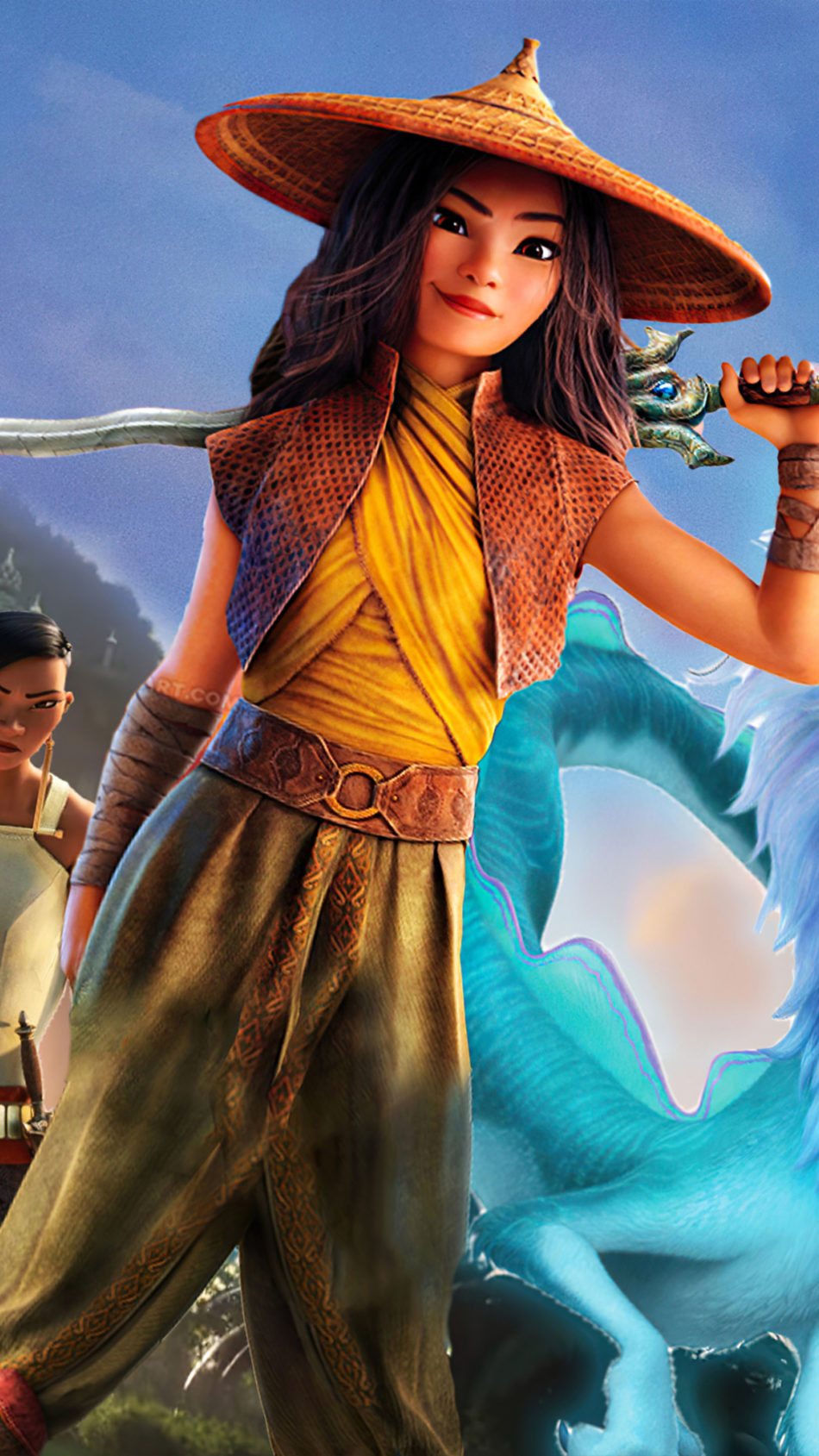 Raya and The Last Dragon Movie Poster 4K Ultra HD Mobile Wallpaper