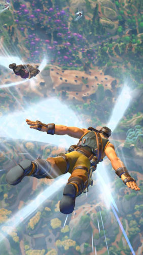 Realm Royale Player Skydiving 4K Ultra HD Mobile Wallpaper