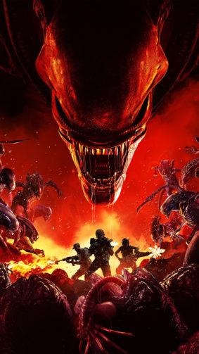 Aliens Fireteam Elite Game Poster 4K Ultra HD Mobile Wallpaper