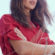Eiza Gonzalez In Red Dress Outdoor Photoshoot 4K Ultra HD Mobile Wallpaper