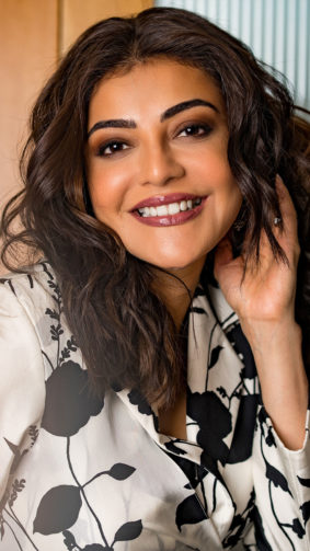 Kajal Aggarwal Smiling 2021 Photoshoot 4K Ultra HD Mobile Wallpaper
