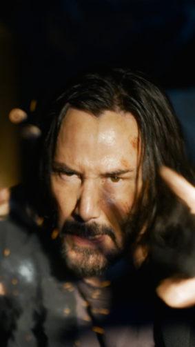 Keanu Reeves In The Matrix Resurrections 4K Ultra HD Mobile Wallpaper