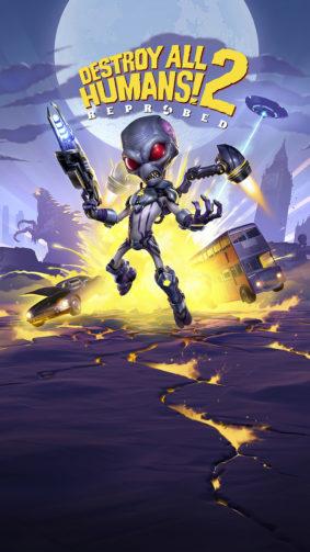 Destroy All Humans 2 Game Poster 4K Ultra HD Mobile Wallpaper